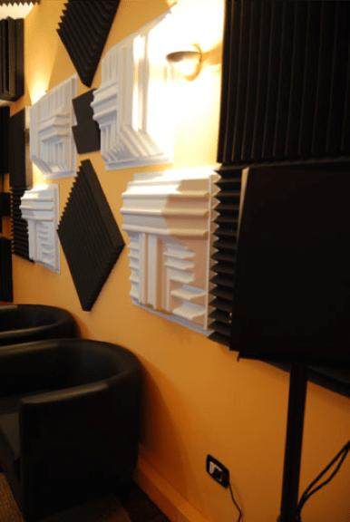 trattamento acustico control room auralex